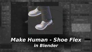 getlinkyoutube.com-Make Human - Shoe Flex in Blender [QUICK TIP]