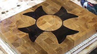 "getlinkyoutube.com-A ""Flower"" end grain cutting board"