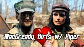 getlinkyoutube.com-Fallout 4 - MacCready flirts with Piper