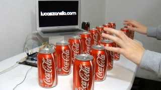 getlinkyoutube.com-Coke Piano and Launchpad made with Arduino