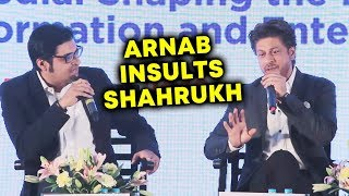 Shahrukh Khan BEST REPLY To Arnab Goswami INSULT