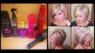 getlinkyoutube.com-How I style my hair -- Inverted or Stacked Bob
