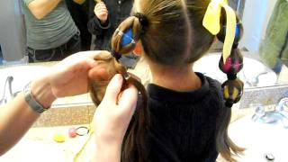 getlinkyoutube.com-Egg Tails {Ponytails} | Easter | Crazy Hair Day | Cute Girls Hairstyles