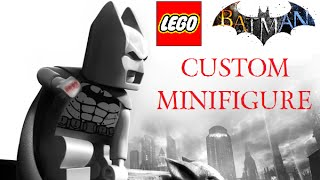 Custom Lego Batman: Arkham City- Batman Minifigure Review