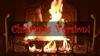 getlinkyoutube.com-Yule Log Fireplace with Christmas Music (Jazz)