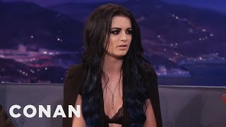 "getlinkyoutube.com-Paige: ""I've Had A Bruised Boob Or Two""  - CONAN on TBS"