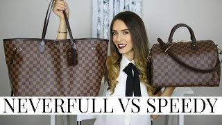 getlinkyoutube.com-LOUIS VUITTON NEVERFULL VS SPEEDY | Pros, Cons & Review! | Shea Whitney