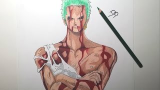 getlinkyoutube.com-Speed Drawing Roronoa Zoro (HD) ロロノア・ ゾロ