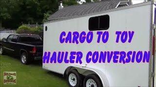 getlinkyoutube.com-CARGO TO TOY HAULER/CAMPER CONVERSION PT 1