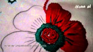 getlinkyoutube.com-طرز الرباطي الدرس الاول كيفية اخد الرشمة وتطبيقها جزء اول مع ام عمران Arab Embroidery