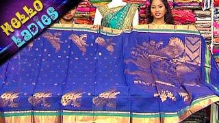 getlinkyoutube.com-Special Venkatagiri Pattu With Different Pallu Designs & Printed Kaddi Border Sarees    Hello Ladies
