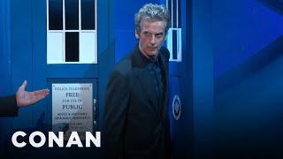 getlinkyoutube.com-Peter Capaldi's Amazing TARDIS Entrance  - CONAN on TBS