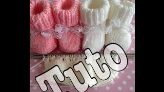 getlinkyoutube.com-tuto tricot : chaussons bébé partie 1/3