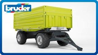 getlinkyoutube.com-Bruder Toys Fliegl Three Way Dumper with Removable Top #02203