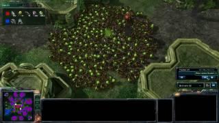 getlinkyoutube.com-Starcraft 2 - 800 Zerg Banelings vs Massive Awesome Terran Wall
