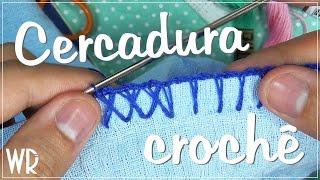 getlinkyoutube.com-Cercadura de crochê - Simples e em X (caseado)