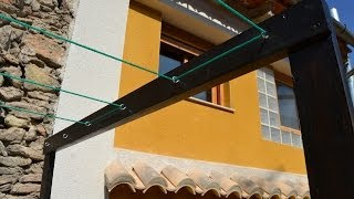 getlinkyoutube.com-Tendedero casero - Homemade Clothes line