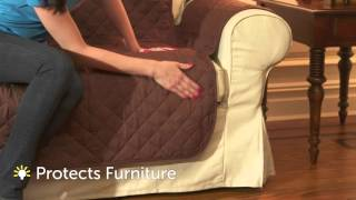 Protect your Furniture with a Reversible Quilted Furniture Cover width=