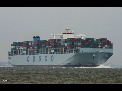 Click to view video COSCO SPAIN - IMO 9516442 - Germany - Elbe - Otterndorf