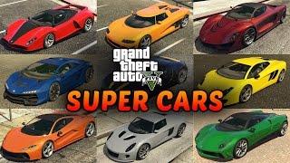 GTA 5 Super Cars List - All Supercars in Grand Theft Auto V