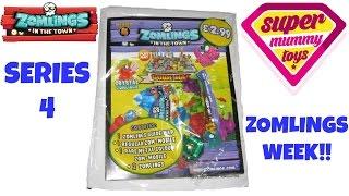 getlinkyoutube.com-Zomlings Series 4 Starter Pack with Guide Map and Zom Mobile Blind Bag - Zomlings Serie 4
