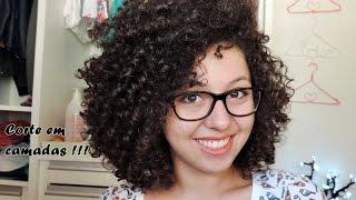 getlinkyoutube.com-Como corto o meu cabelo cacheado em camadas - corte e retoque das camadas | Esteffany Marques