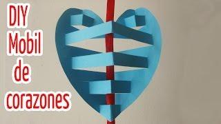 getlinkyoutube.com-Manualidades :Móvil de corazones 3D - Manualidades para todos