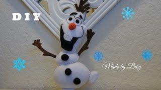 getlinkyoutube.com-DIY -  Frozen Olaf en fieltro  manualidades