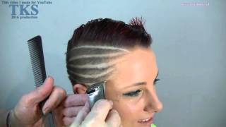 getlinkyoutube.com-My mohawk gets wings?! Cut and color make over of Lizanne by T.K.S