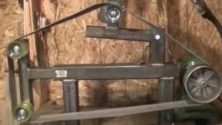 getlinkyoutube.com-home made belt grinder 2x72 part 2