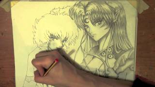 getlinkyoutube.com-Manga speed drawing Sesshomaru-Linda