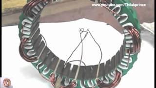Vehicle Alternator stator coil winding