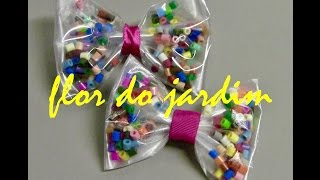 getlinkyoutube.com-Laço feito com Plástico e  Perler Bead - Tie