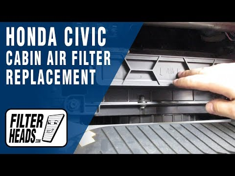 How to Replace Cabin Air Filter 2008 Honda Civic