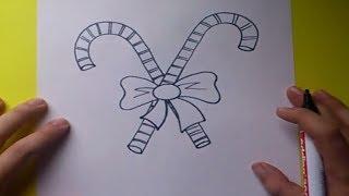 getlinkyoutube.com-Como dibujar un baston de caramelo paso a paso 2   How to draw a cane candy 2