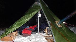 getlinkyoutube.com-Hot Tent Wood Stove Another Season Begins