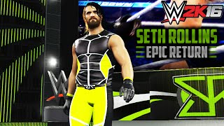 WWE 2K16 - EPIC Seth Rollins Return: New Theme & Look (PS4/XBOXONE)