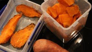 getlinkyoutube.com-Bodybuilding Cooking:  Sweet Potatoes