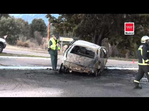 16.02.12 Accidente de tráfico. M-614 km 8. Cercedilla