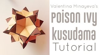 getlinkyoutube.com-Origami Poison Ivy Kusudama Tutorial