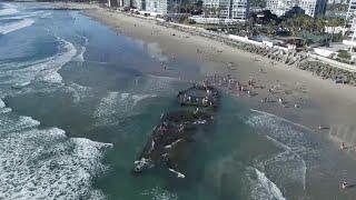 getlinkyoutube.com-Sunken gambling ship reappears 80 years later off Coronado