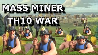 getlinkyoutube.com-Mass Miner TH10 3 Star War Attack ~ Max Defense Base (Except Heroes)