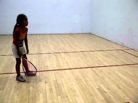 Meli Moniz: 1st racquetball lesson 7/21/2012