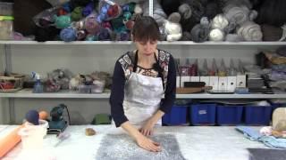 getlinkyoutube.com-✿Как создать неповторимые поверхности из шерсти и подручных материалов. МК валяние