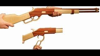 getlinkyoutube.com-First try to make wooden rubber gun