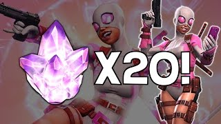 getlinkyoutube.com-Opening 20x Gwenpool Crystals - Marvel Contest Of Champions Crystal Opening