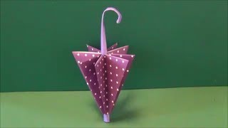 "getlinkyoutube.com-梅雨「傘」折り紙Rainy season ""umbrella"" origami"