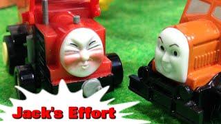 "getlinkyoutube.com-トーマス プラレール ガチャガチャ がんばりやのジャック Tomy Plarail Thomas ""Jack's Effort"""
