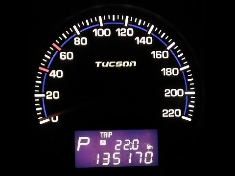 Установка новых шкал панели приборов на Hyundai Tucson