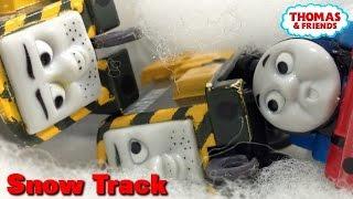 """getlinkyoutube.com-Thomas and friends """"Snow Track"""" トーマス プラレール ガチャガチャ ゆきのひのできごと"""